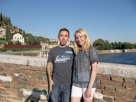 Senovės italų tiltas Veronoje. Verona City (Verona), Italija